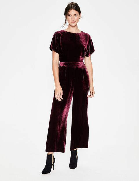 a5e665ea74a0 Our silk blend velvet jumpsuit is an easy win for your next event