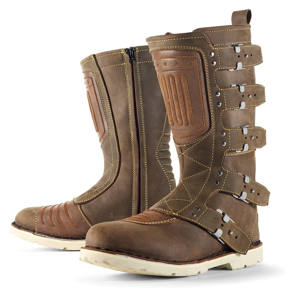 The Elsinore S Five Strap Alloy Buckle Chassis Stamped Metal Heel Plate And Internal Motorcycle Riding Boots Leather Motorcycle Boots Best Motorcycle Boots