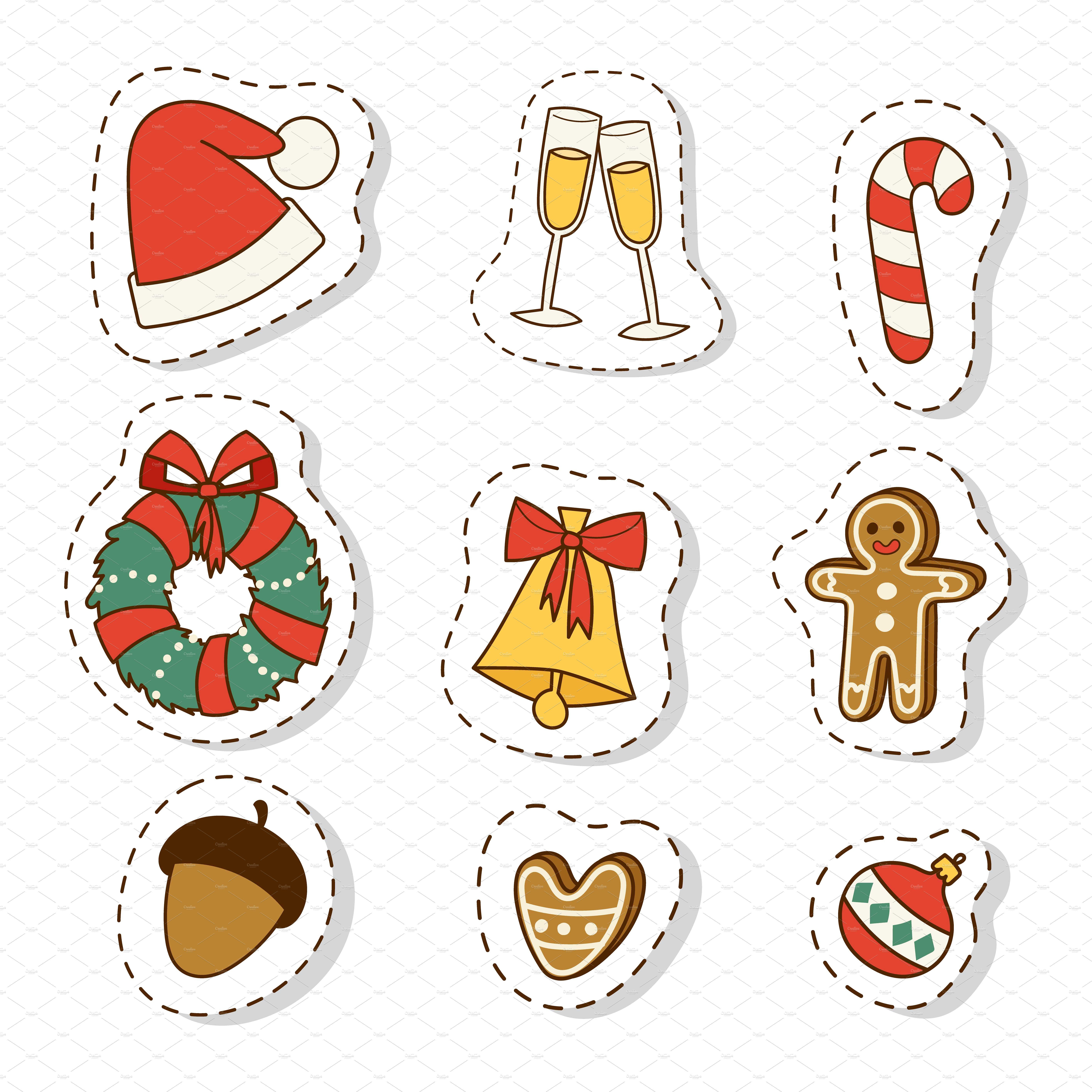 Christmas icons symbols vector by Vectorstockerland on
