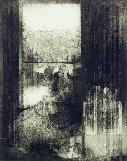 "John Paul Jones ""Annunciation""  intaglio 21 3/4 x 27 3/4"