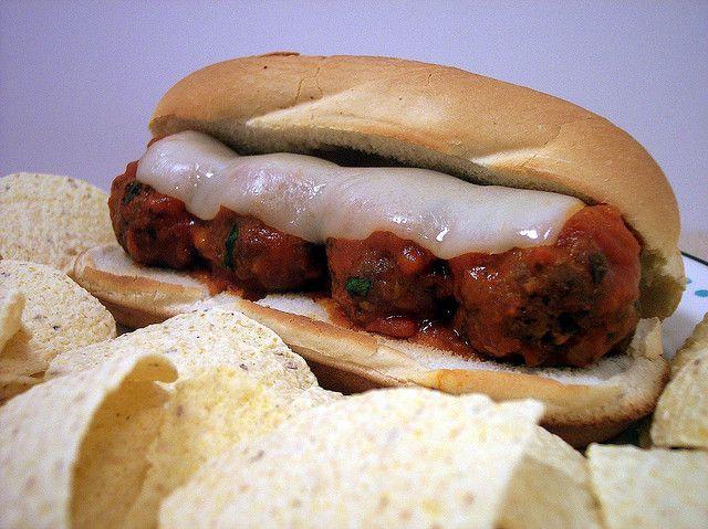 #Cheesy Meatball Subs