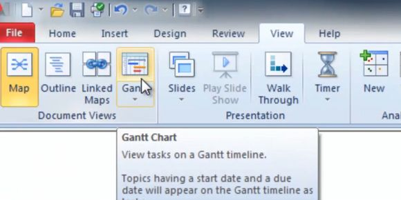 Using Mindjet for Windows Gantt Charts for Effective Project - what does a gantt chart show