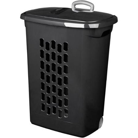 Sterilite Wheeled Laundry Hamper Black Available In Case Of 3 Or