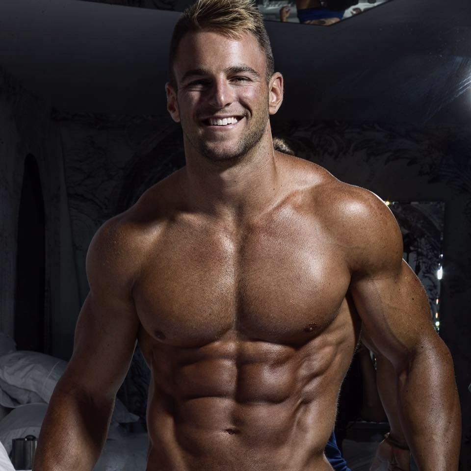 Handsome muscular image photo
