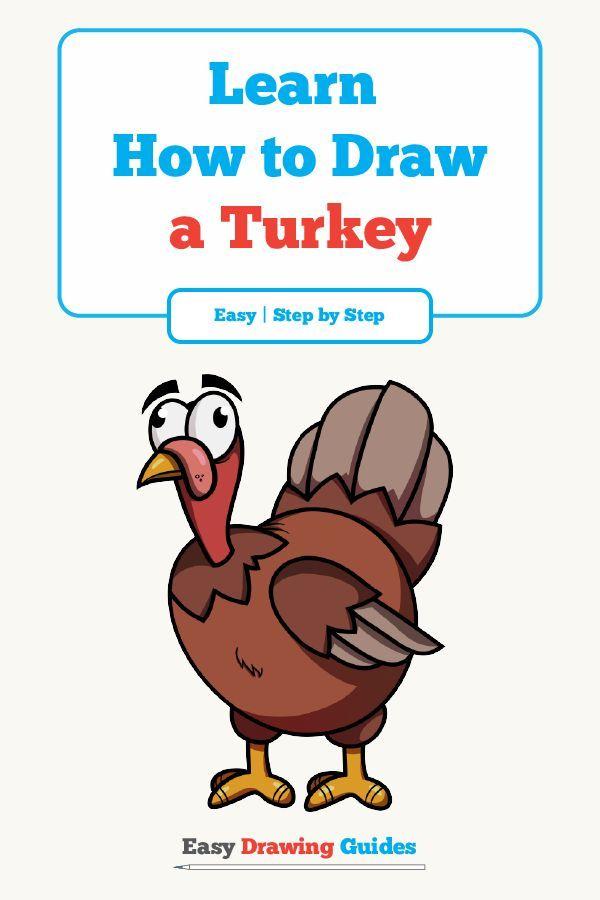 How to Draw a Cartoon Turkey in a Few Easy Steps | Drawing ...