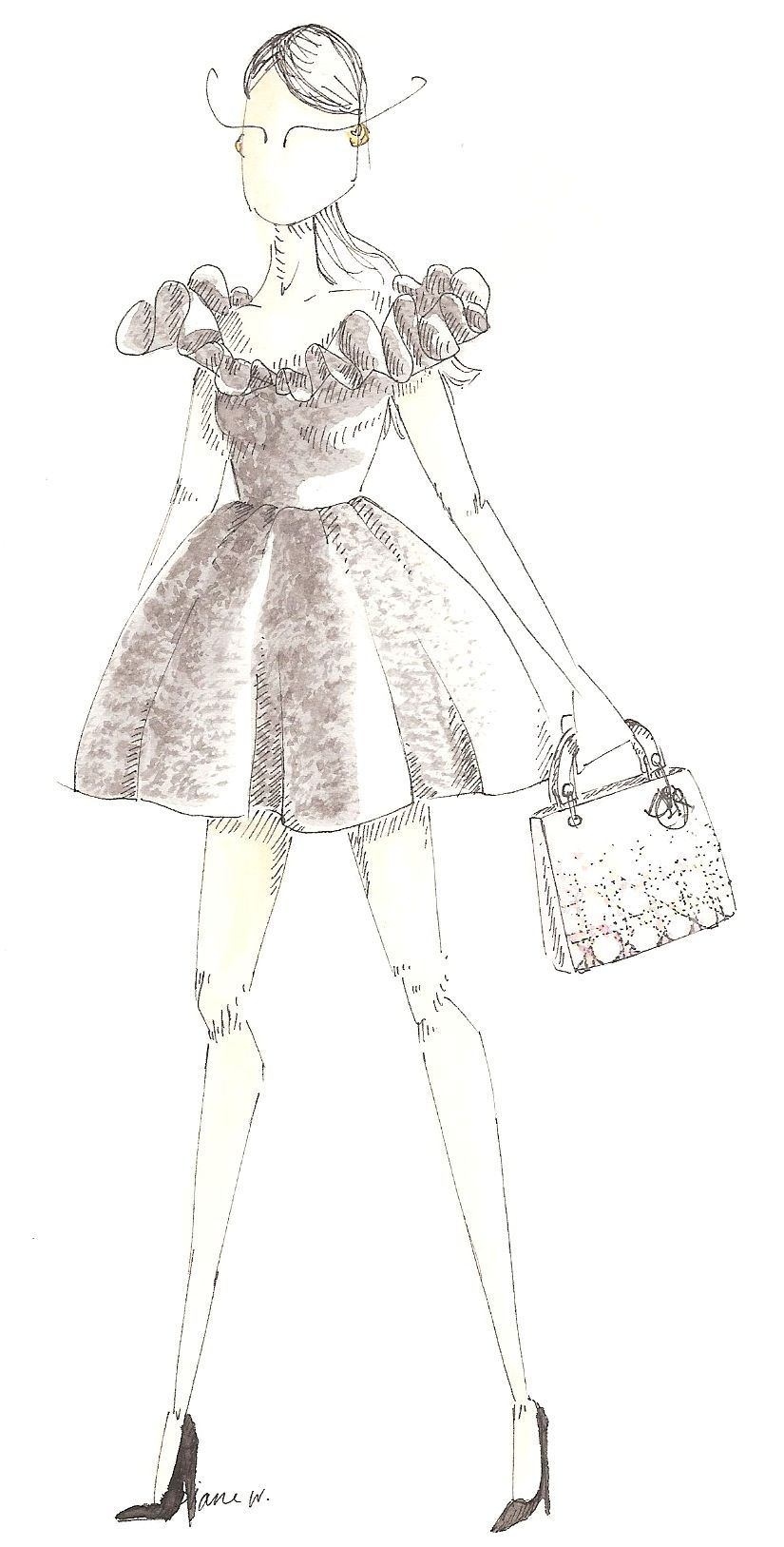 My vision of the #Dior woman, wearing a Lady Dior | 只愿你被