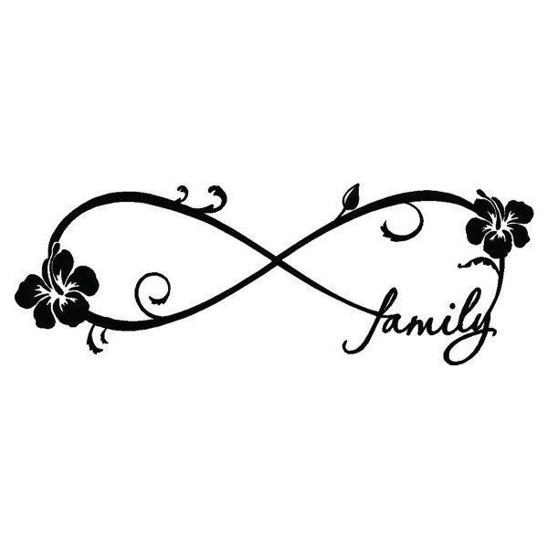 Smaller Hibiscus Family Forever Infinity Symbol Vinyl Wall Decal