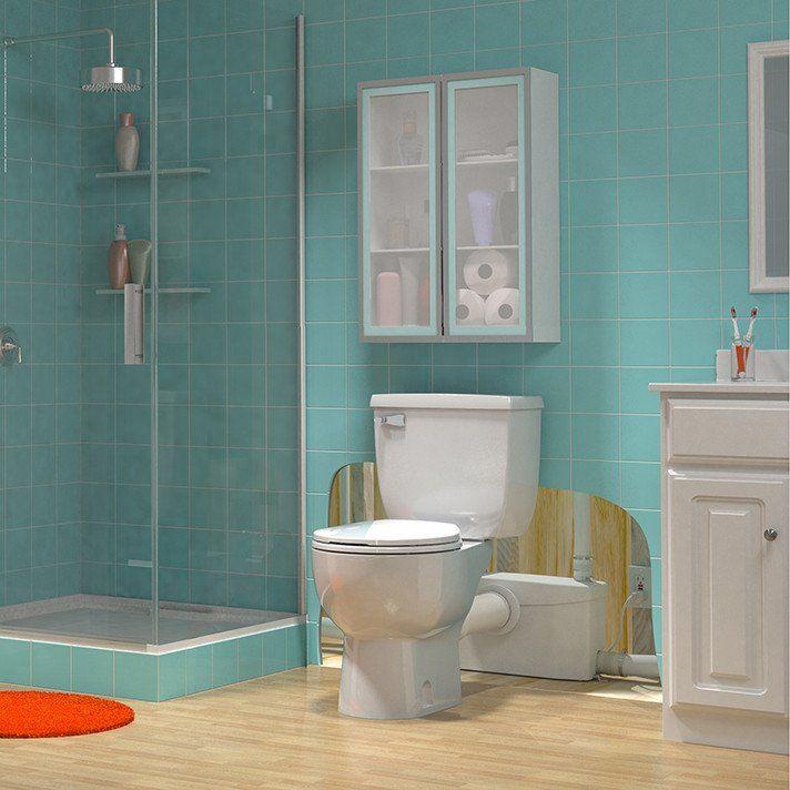 SaniPLUS Upflush Toilet KIT Macerator Pump Tank Bowl - Macerator pump for basement bathroom for bathroom decor ideas
