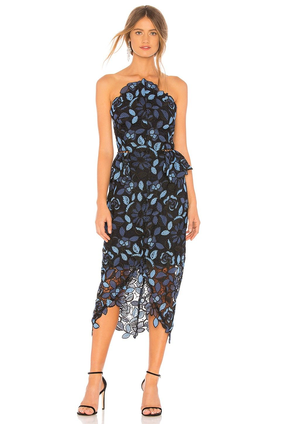 ELLIATT Times Dress in Blue Multi from in 2020