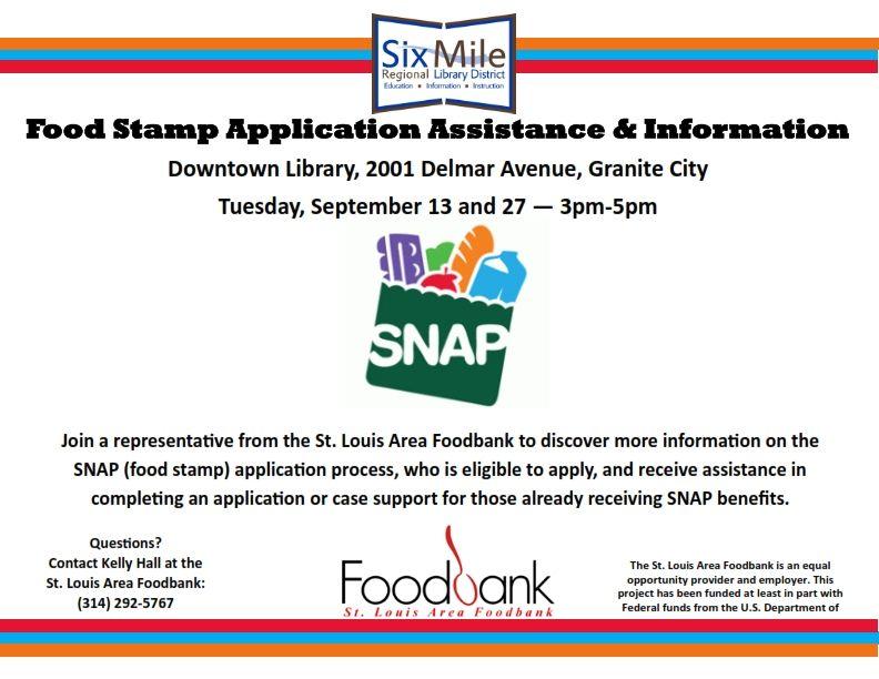 Food Stamp Application Assistance Information Snap Food Food Bank Stamp