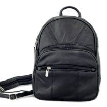 Leather Backpack Purse Mid Size & Convertible strap sling Bag ...