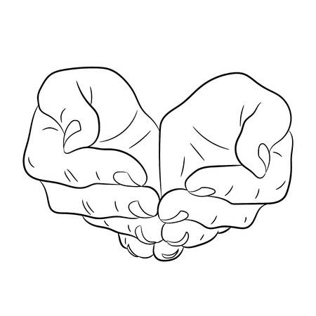 Open Hand Google Search Flat Drawings Drawings Vector Illustration