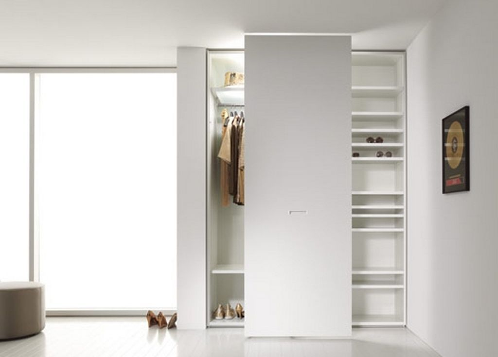 Contemporary Wardrobe Closet With Sliding White Door Feat Simple Room  Lighting Fixture Amazing Design For Contemporary