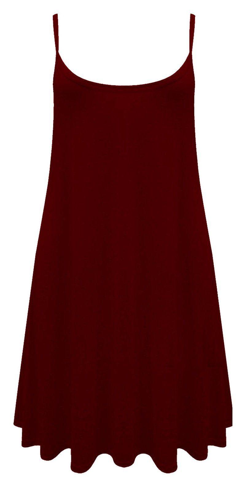5bea7e7bb3552 NEW WOMEN PLAIN CAMI VEST DRESS NEON SLEEVELESS TOP LADIES SWING MINI DRESS PLUS  SIZES UK SIZE 8-26 (M L 12-14