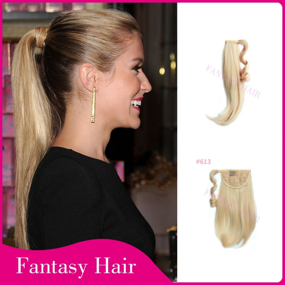 Find more ponytails information about light blonde tangle free resistant long sleek straight women synthetic fake hair extensions velcro ponytail hairpiece high quality ponytail extensions human hairchina ponytail pmusecretfo Gallery