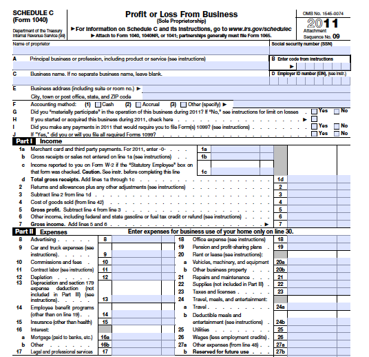 Filling Out Schedule C Intro To Taxes For Your Creative Small