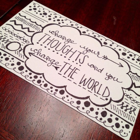 Inspirational Drawings: Inspirational Quote Hand Drawn Print On Etsy, $8.00