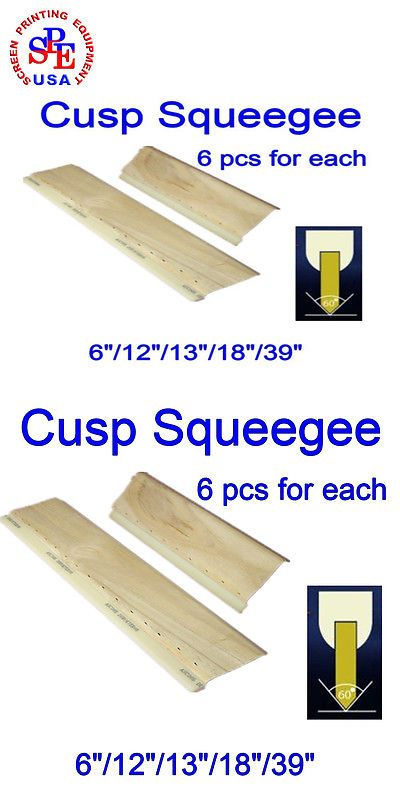 "8pcs For Each 75//65 Durometer Silk Screen Printing Squeegee6/""//12/""//13/""//18/""//39/"""