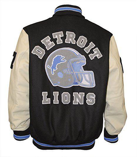 Hills Cop Beverly Axel Foley Detroit Lions Vintage Sports Letterman Jacket At Amazon Men S Clothing S Letterman Jacket Detroit Lions Gear Detroit Lions Clothes