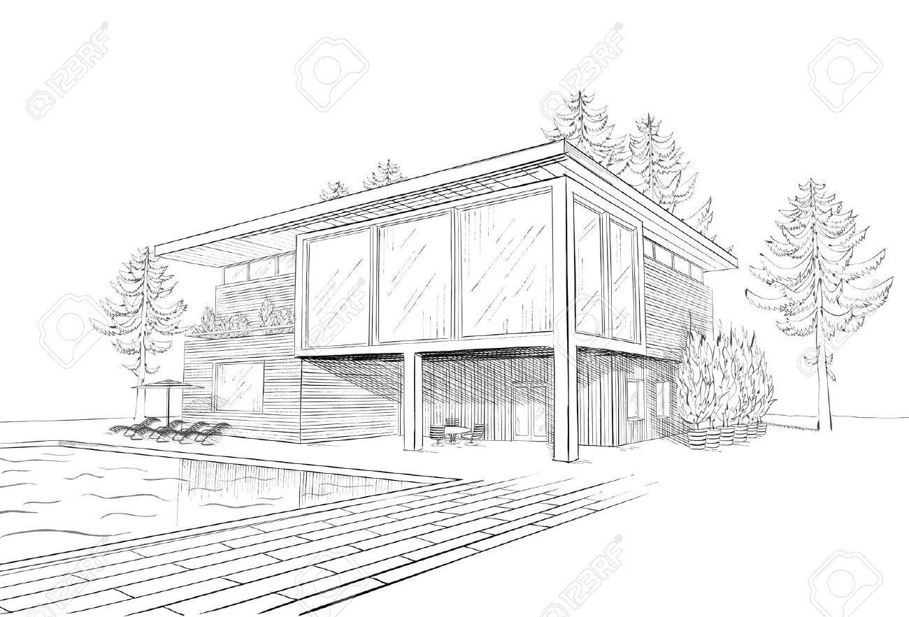 Bocetos De Casas Modernas Dibujos Buscar Con Google - Modern building sketches