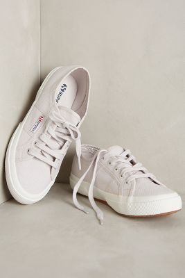 5db372a29e4 Superga Classic Canvas Sneakers Grey Seashell  AnthroFave