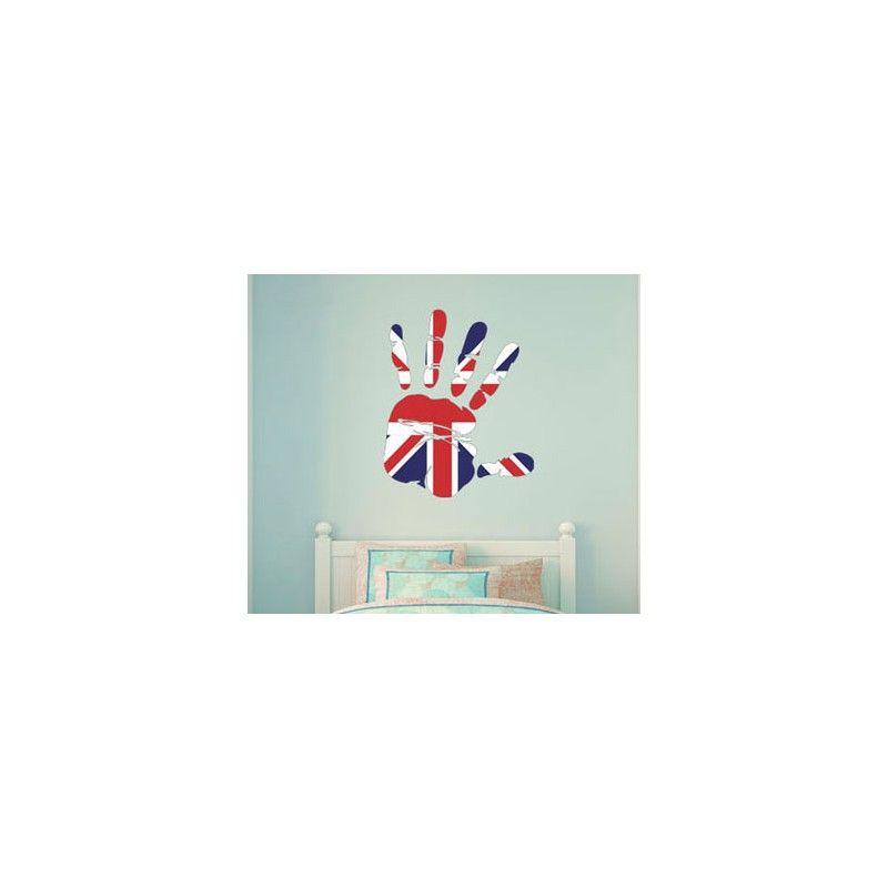 Stickers Drapeau anglais Royaume Uni Angleterre Autocollants Adhesifs decoration 1 feuille