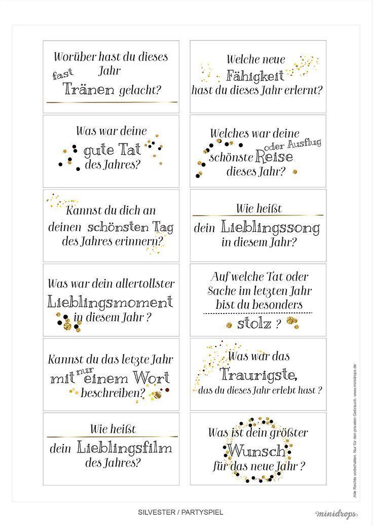 Silvester Jahresruckblick Fragen Zum Ausdrucken Partyspiele Silvester Silvesterspiele Silvester
