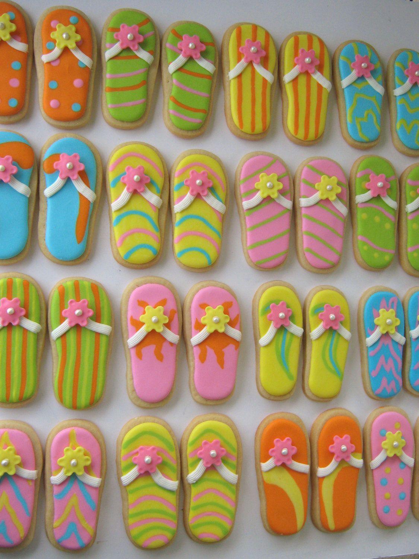 flip flop cookies backen kekse flipflops kekse und. Black Bedroom Furniture Sets. Home Design Ideas