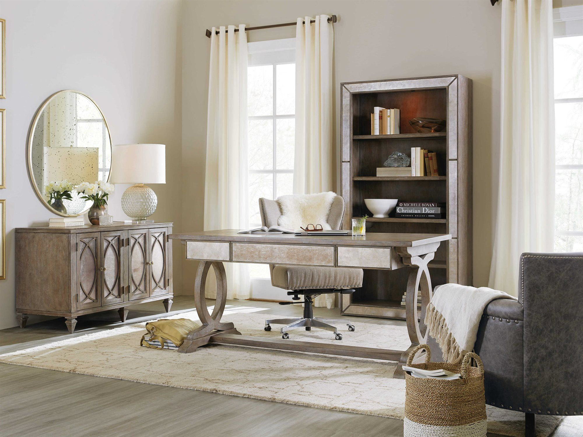 Hooker furniture rustic glam home office set in new house