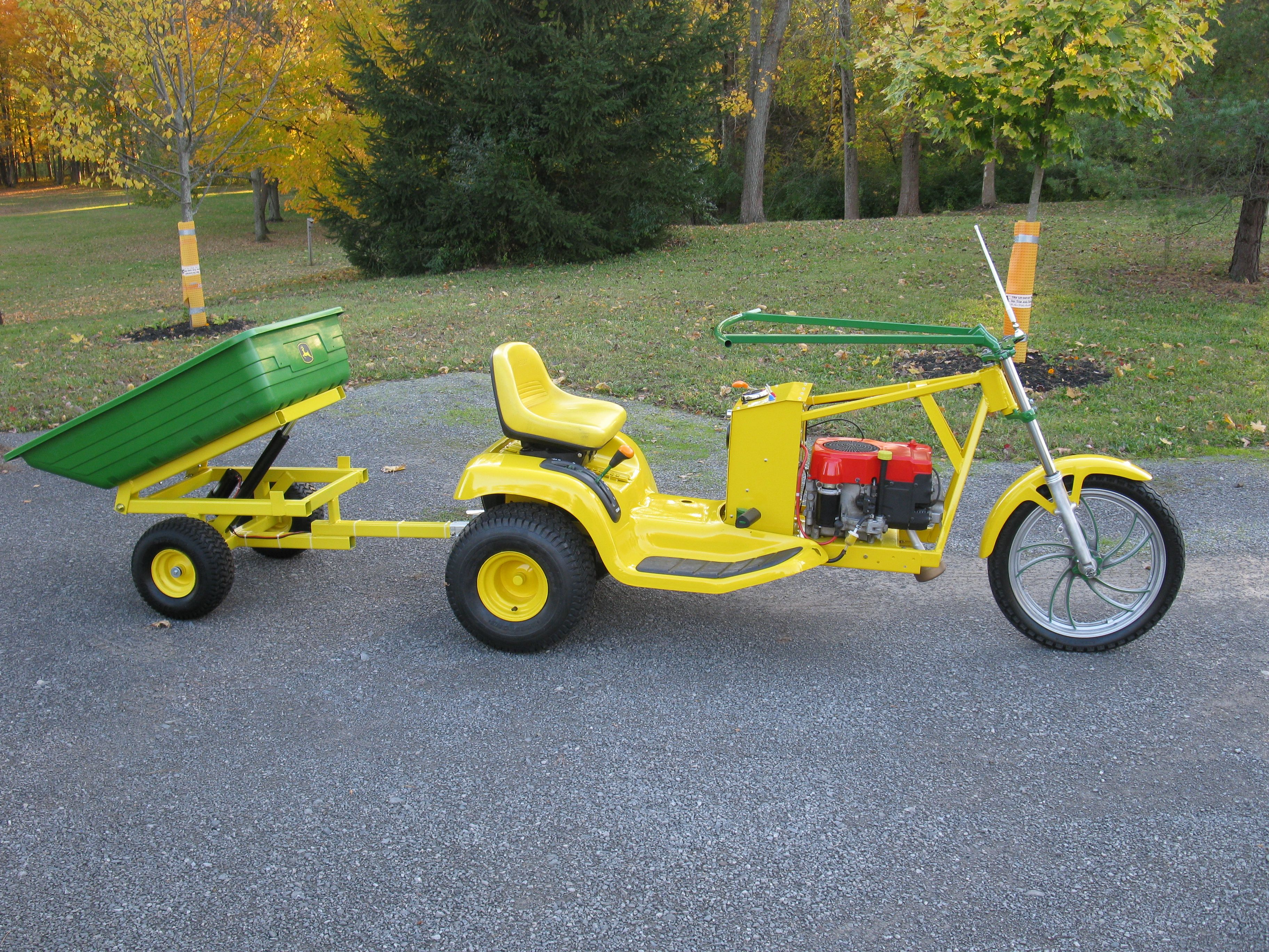 Gardening buggy with electric dump cart Lawn tractor