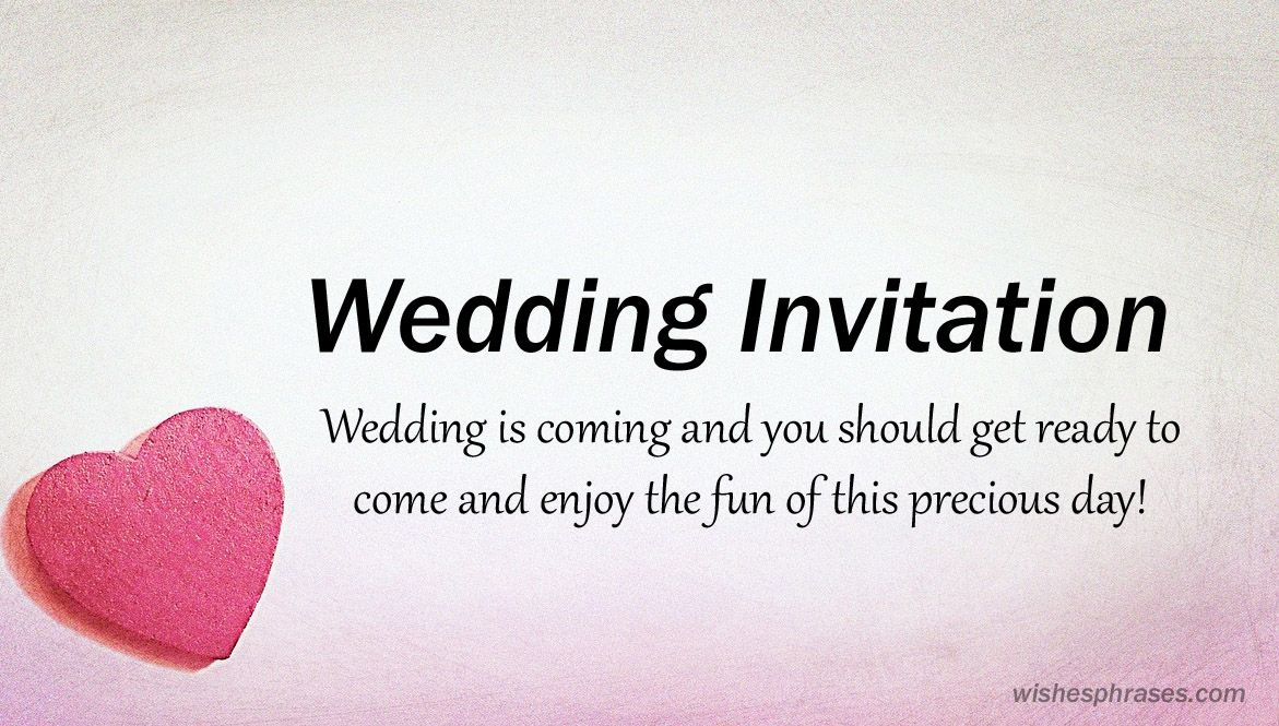 Wedding Invitation Sms To Invite Friends Messages