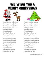 We Wish You A Merry Christmas Lyrics | Merry christmas song ...