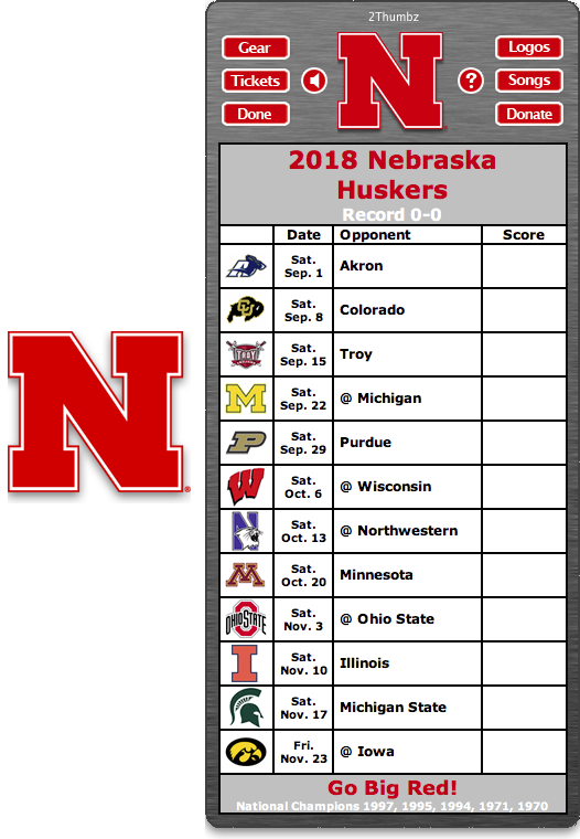 Get your 2018 Michigan Wolverines Football Schedule