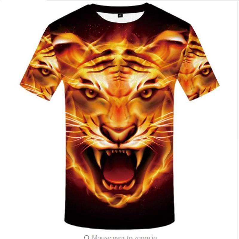 Fire Tiger T Shirt – CatLoversParadise101 3d0891b6020a