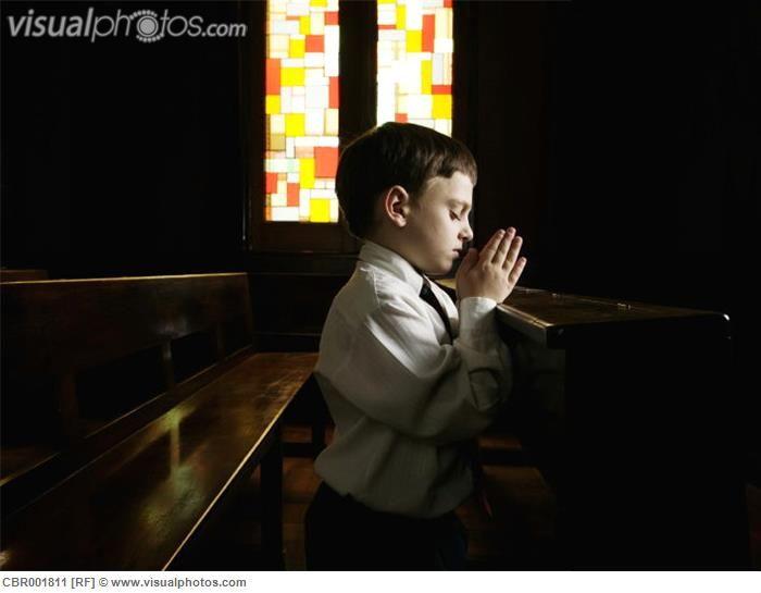 Boy Praying in Church | Zen and Prayerful Kids | Pinterest ...