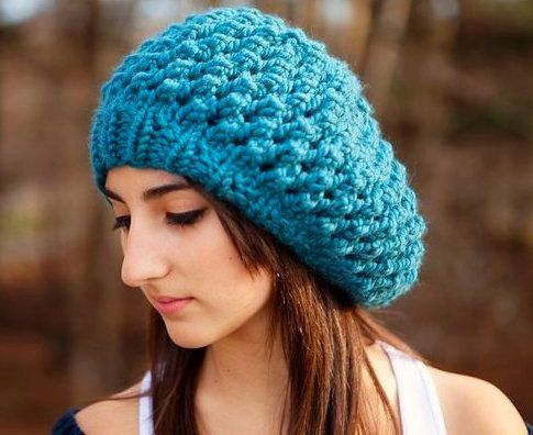 Hand+Knit+Hat+Womens+Hat++The+Odessa+Beret+in+Teal+by+pixiebell efbcc2f3b7e