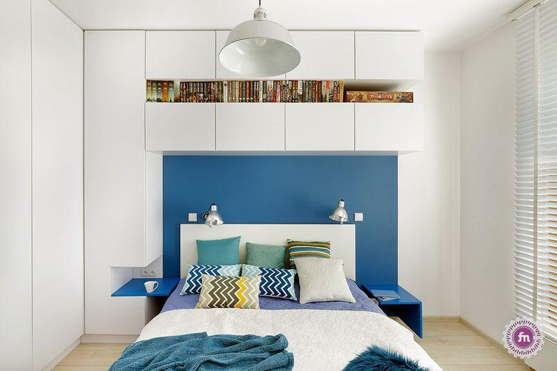Biało Niebieska Sypialnia Home Bedroom Small Space