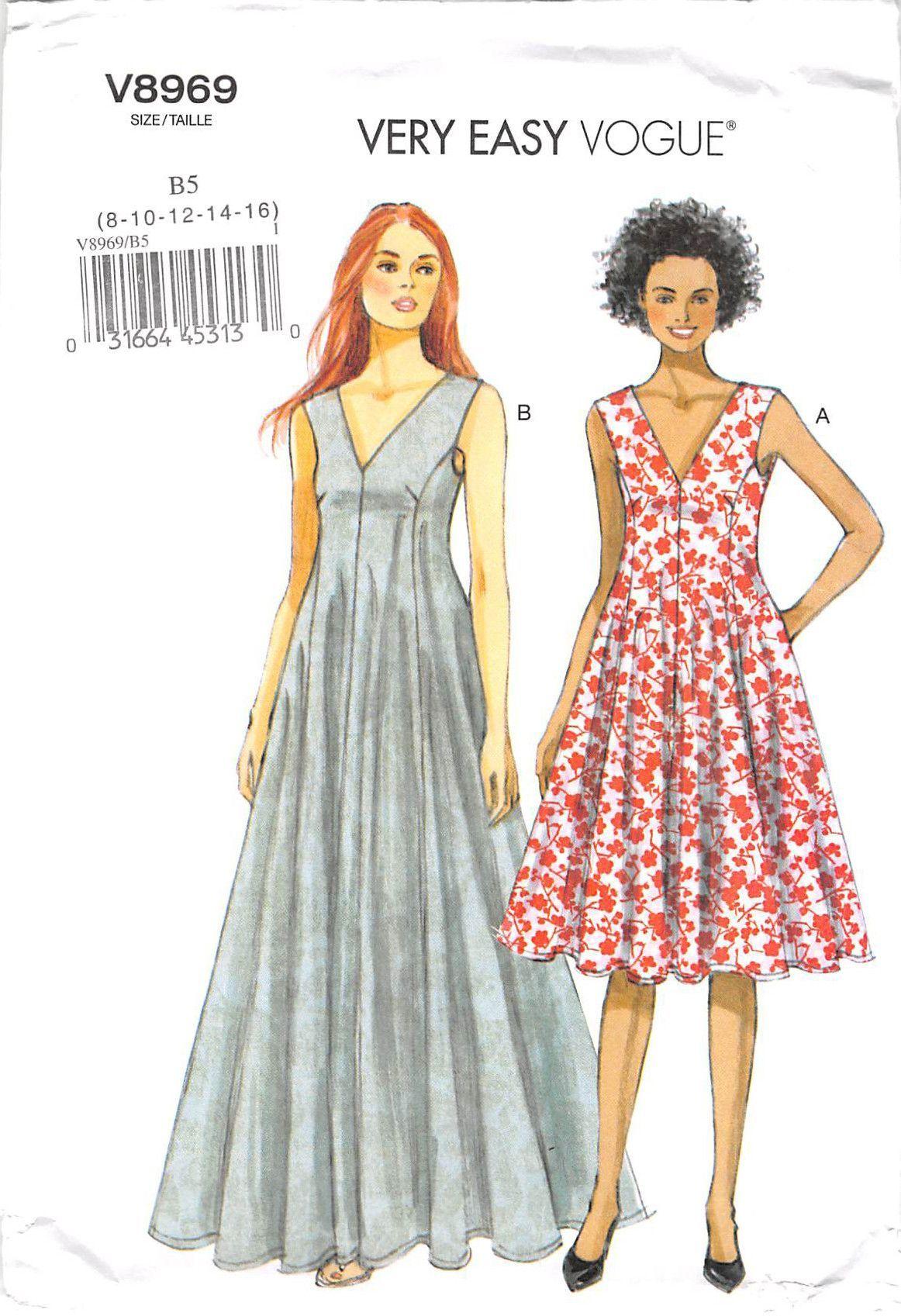 VOGUE 8969 - FROM 2014 - UNCUT - MISSES DRESS