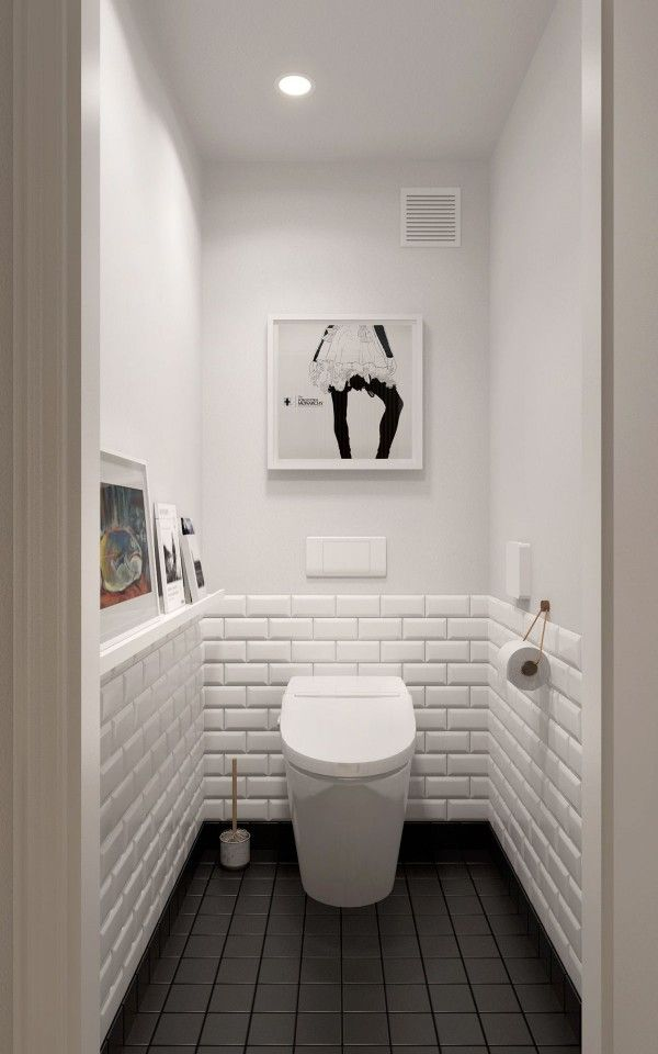 Black and white bathroom bathroom designs pinterest for Toilet bathroom design
