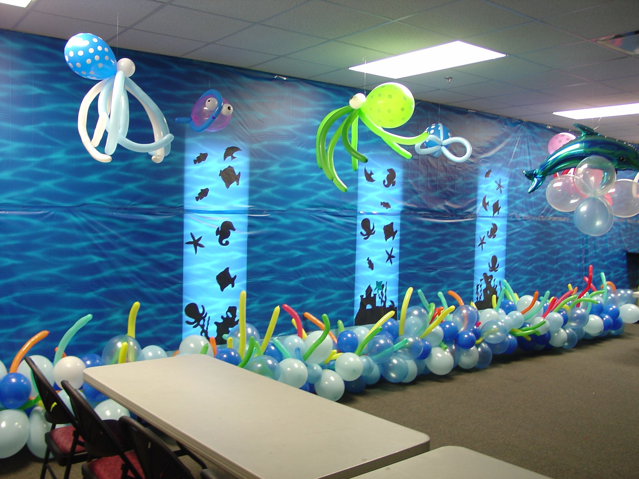 An amazing room by one of our talented ladies!  This is the great barrier reef!