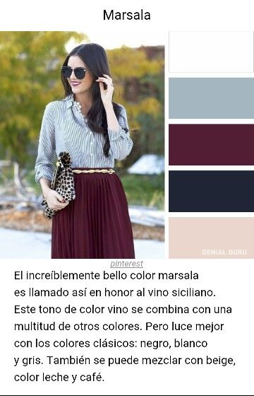236f332d6b3 Combinación de colores BORDO Maxi Faldas