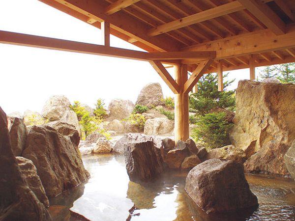 700tもの岩石を組み上げた野趣あふれる庭園の露天風呂