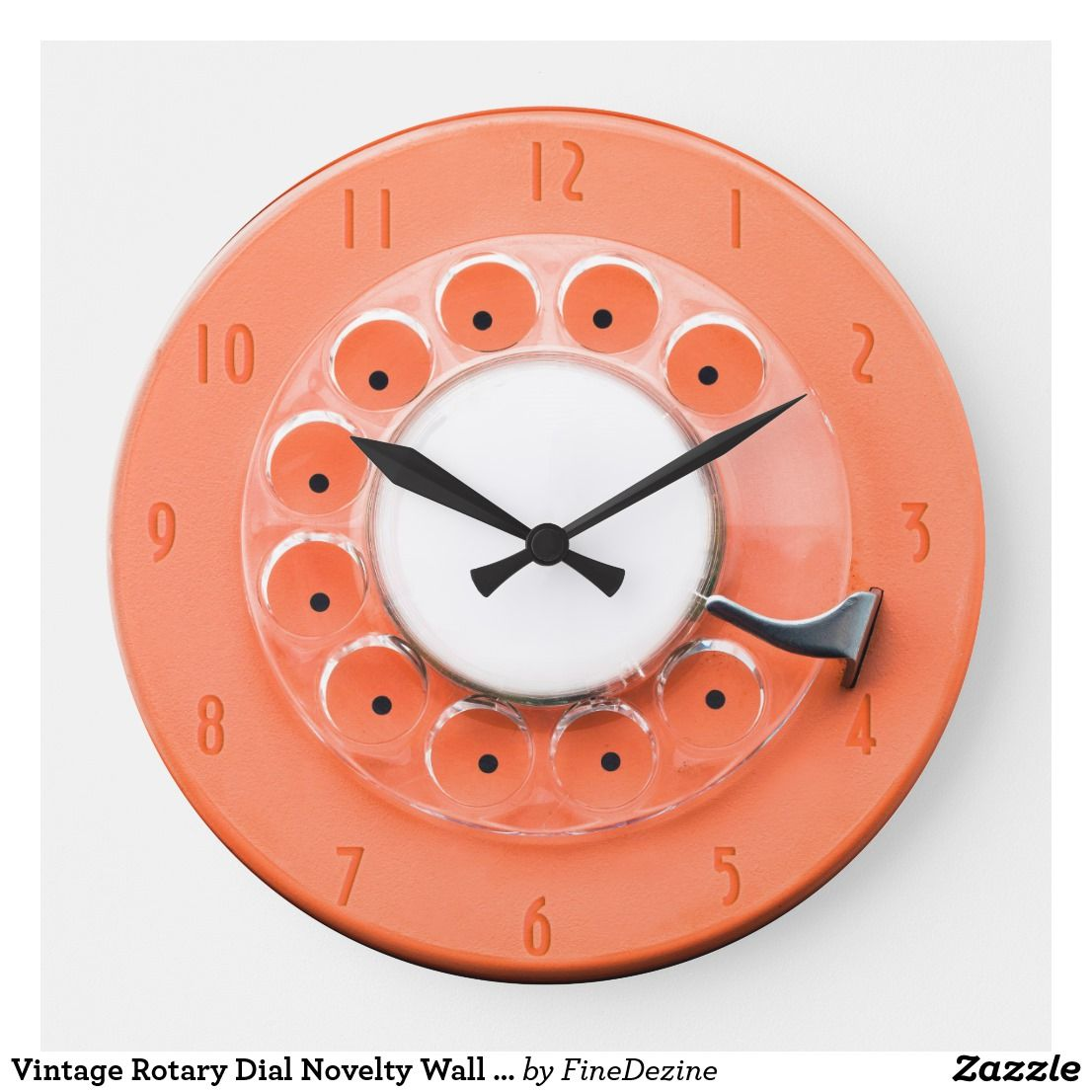 Vintage Rotary Dial Novelty Wall Clock Zazzle Com Clock