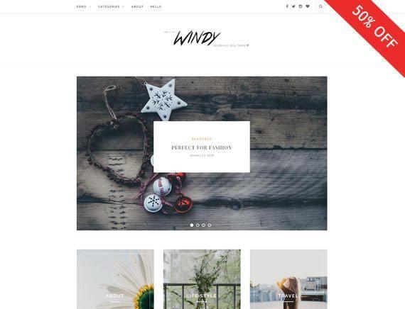 Windy - A Beautiful Blog Theme for Wordpress -Wordpress template ...
