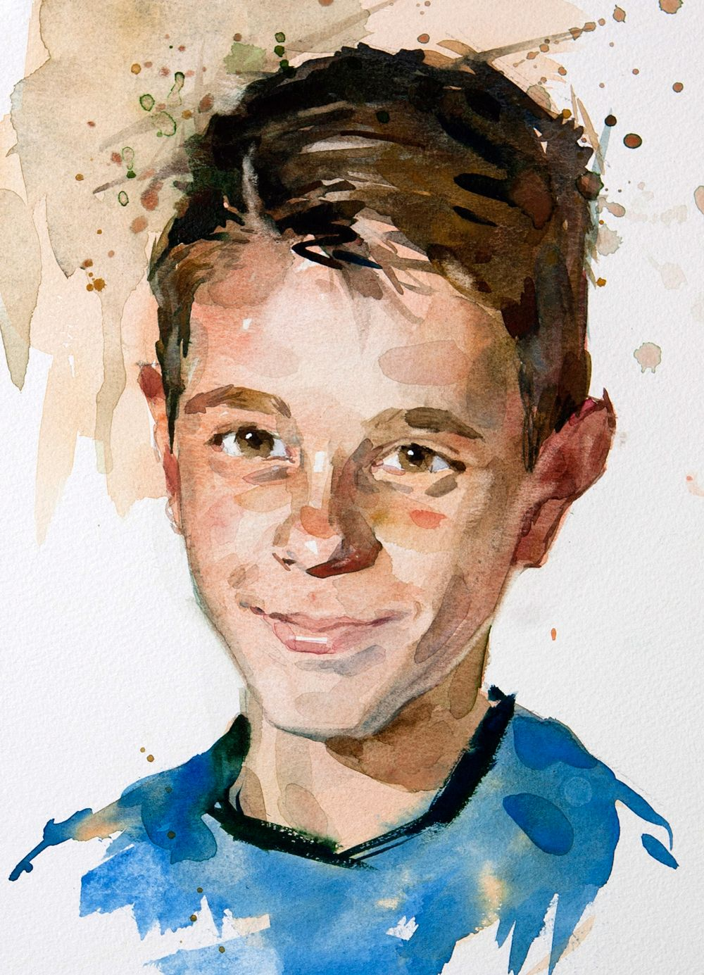 Painting A Portrait In Watercolour S Izobrazheniyami Akvarelnye