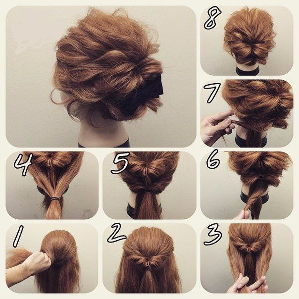 Ideas For Hairstyles Short Hair Updo Hair Styles Hair Bun Tutorial