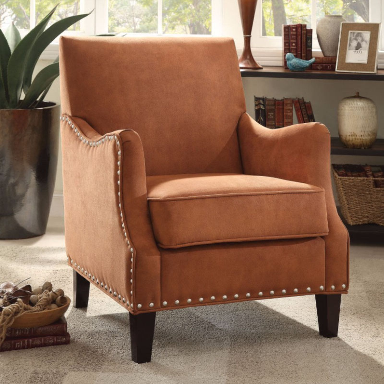 Outstanding Benzara Classy Look Accent Chair Orange In 2019 Products Gmtry Best Dining Table And Chair Ideas Images Gmtryco