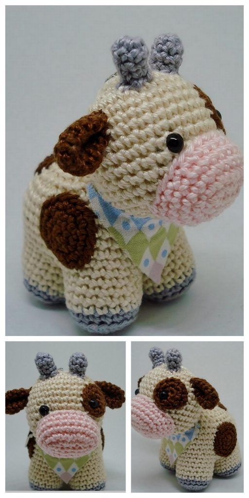 Free Crochet Pattern for a Cow with Hearts ⋆ Crochet Kingdom | 1024x512