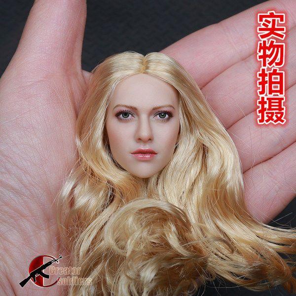 "1//6 Lady Head Sculpt Female Model for 12/"" HT  Action Figure Doll"