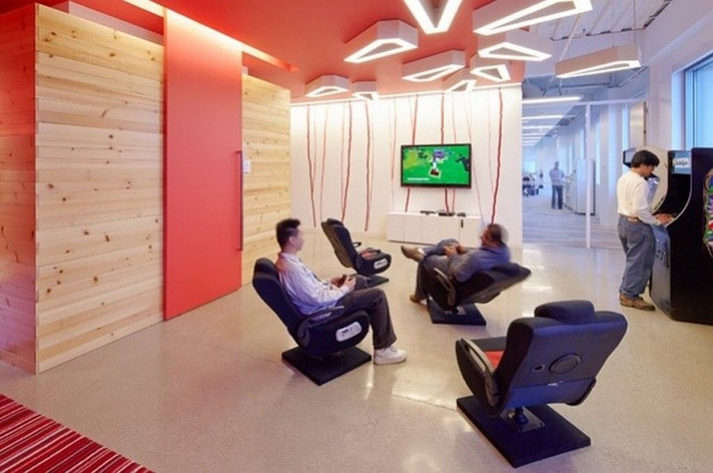Office workspace modern interior office entertainment for Office design game